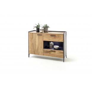 KUBAN komoda drewno akacjowe 113/40/70 cm