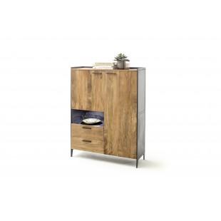 KUBAN komoda wysoka drewno akacjowe 113/40/146 cm
