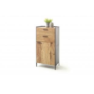 KUBAN szafka wysoka drewno akacjowe 63/40/125 cm