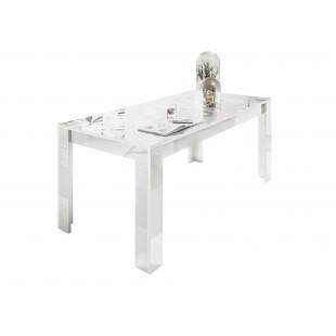 Stół rozkładany PRYZMAT biały 137-185/90/79 cm