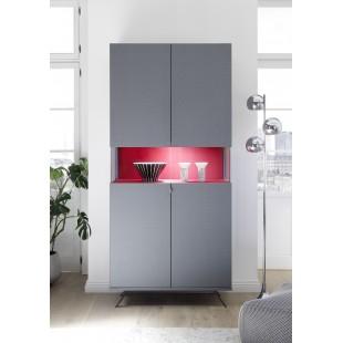 Włoska witryna 2 drzwi AMOR optyka carbon 93/207/50 cm