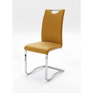Krzesło na płozie KOLONIA  curry 1 szt