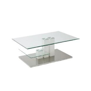 Stolik do salonu szklany Limo Dwa 110/70/40 cm