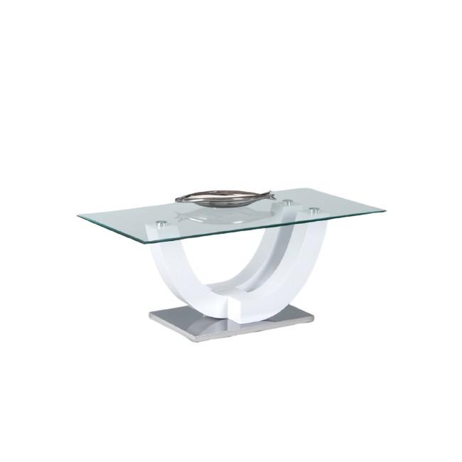 Stolik kawowy ze szklanym blatem Wilma 120/60/48cm