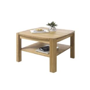KLIPS drewniany stolik kawowy dąb lub buk 83/83/55 cm