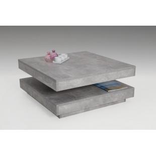 Stolik kawowy BENITA beton 78/34/78 cm