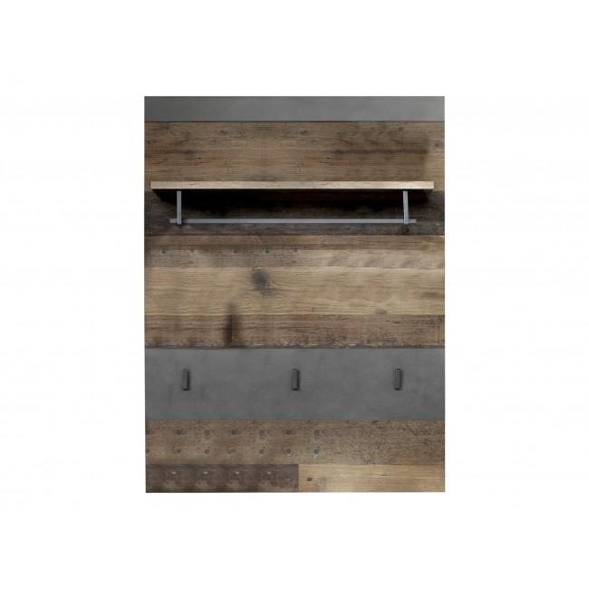 Panel garderobiany INDIA folia drewno postarzane 80/28/106 cm