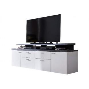 Szafka RTV MODO biały + optyka betonu 180/47/66 cm
