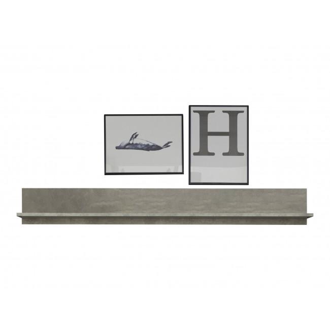 Półka ROKET korpus optyka betonu 148/19/18 cm
