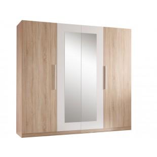 Szafa 4-drzwiowa MARTIN dąb sonoma 228/59/213 cm