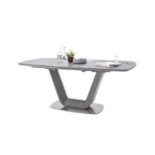 Stół rozkładany JUNAK ceramika antracyt 160-200/90 cm