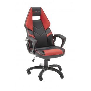 Fotel dla gracza EMIL 1 ekoskóra czarno-czerwona