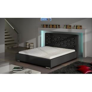 Łóżko nowoczesne SAWANNA KRYSZTAŁOWA - polibox