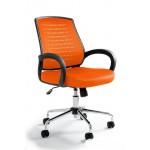 Fotel biurowy nowoczesny UM WANDA pomarańczowy