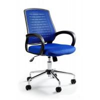 Fotel biurowy nowoczesny UM WANDA niebieski
