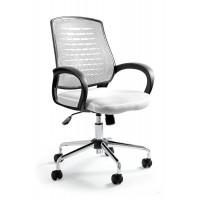 Fotel biurowy nowoczesny UM WANDA biały