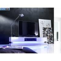 STOLIK POD TV BIAŁY Z OŚWIETLENIEM LED PAULINA 180/36cm