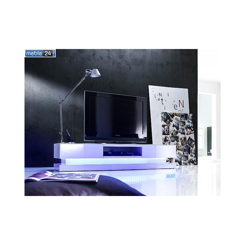 stolik pod tv bia y z oswietleniem led paulina 180 36 cm meble24sklep pl. Black Bedroom Furniture Sets. Home Design Ideas