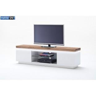 Szafka RTV biel + dąb lity FELICJA 90 175/40/49cm - ART