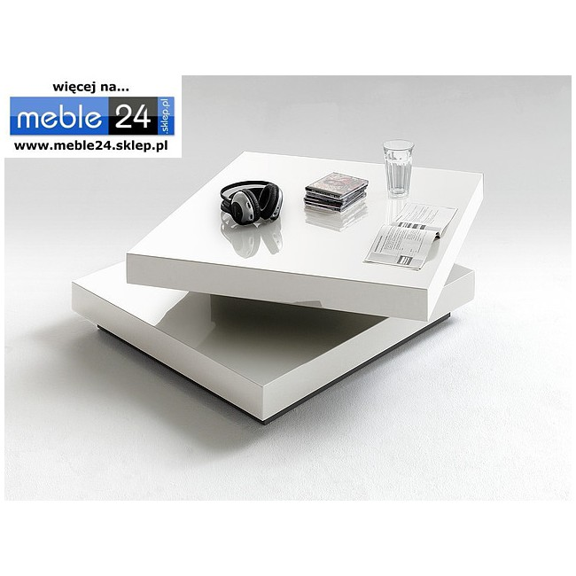 Biały stolik kawowy SQUARE 75/30 cm