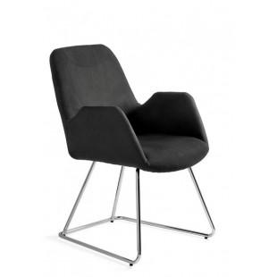 Krzesło materiałowe NANCY chrom
