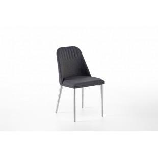Krzesło ELARRA A stelaż stal szlachetna szczotkowana, nogi okrągłe