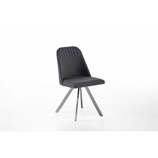 Krzesło ELARRA A stelaż stal szlachetna szczotkowana, nogi skośne