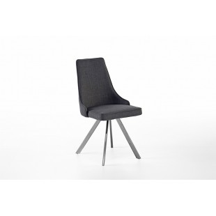 Krzesło ELARRA B stelaż stal szlachetna szczotkowana, nogi skośne