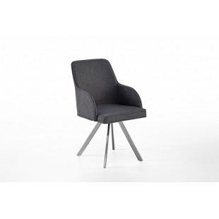 Krzesło ELARRA C stelaż stal szlachetna szczotkowana, nogi skośne