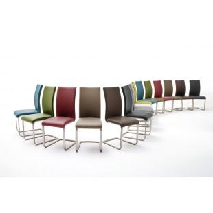 Krzesło PAUL I  na płozie, dziewięć kolorów ekoskóry